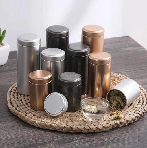 Metal Jar with Lid