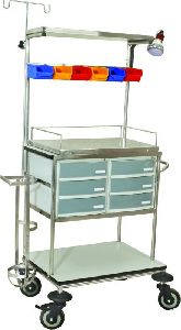 Hi-2021 S.S Crash Cart Trolley