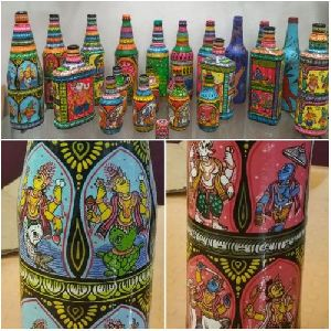 Hand Painted Decorative Bottles