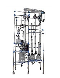 Glass Reactor with Rectification Column