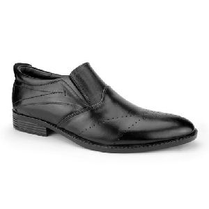 Leather Slip On Shoes .
