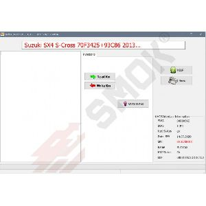SZ0004 Suzuki SX-4 S-Cross (70F3425+93C86) 2013 OBD