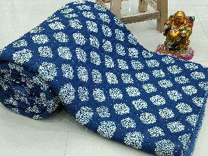 Indigo Blue Kantha Quilt