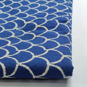 Indigo Blue Printed Cotton Fabric