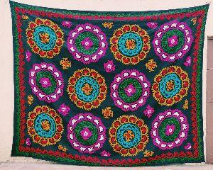 Suzani Embroidered Bedsheet