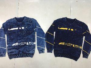 Mens Full Sleeve Denim Sweatshirts