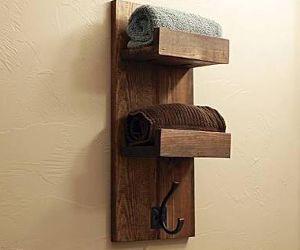 Wooden Towel Holder