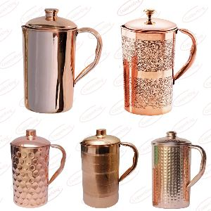 Diamond Copper Hammered Jug