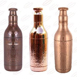 Pure Copper Champagne Water Bottle