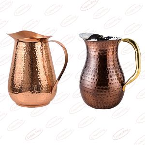 Pure Copper Hammered Jug