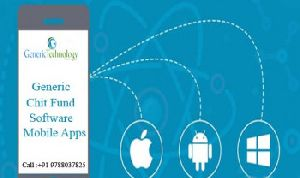 Generic chit fund software mobile apps support