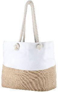 Canvas Jute Rope Handle Tote Bag