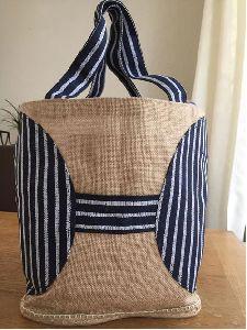 Designer Jute Tote Shopping Bag