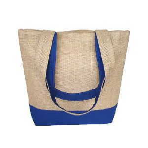 Natural Jute Cotton Shoulder Tote Bag
