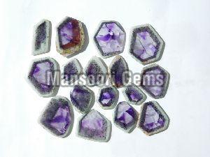 Trapiche Amethyst Slice Stone