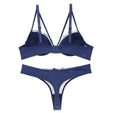 Ladies Blue Bra Panty Set