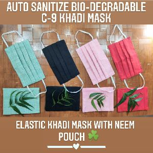 C-9 Elastic Khadi Mask with Pouch