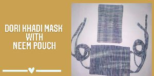 C-9 Dori Khadi Mask with Pouch