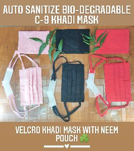 C-9 Velcro Dori Khadi Mask with Pouch