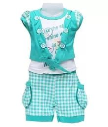 Girls Top & Shorts Set
