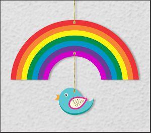 Rainbow Hanging