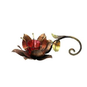 Iron Flower Candle Stand
