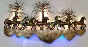 Seven Horses Wall Hanging With Led