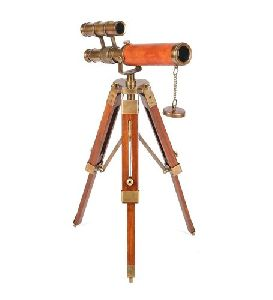 Wooden Telescope with Tripod Stand