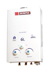 6 Ltr Gas Geyser With Copper Tank - olympus