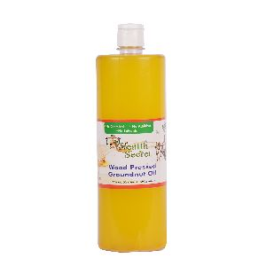 Wood Pressed Groundnut Oil Bottle