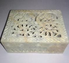 Undercut Soapstone Box