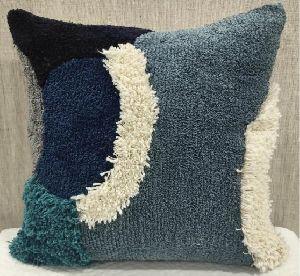 100% Cotton Blue Cushion Cover