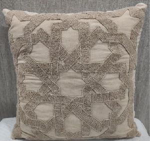 100% Cotton Brown Cushion Cover