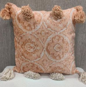 Chenille Velvet Blush Cushion Cover