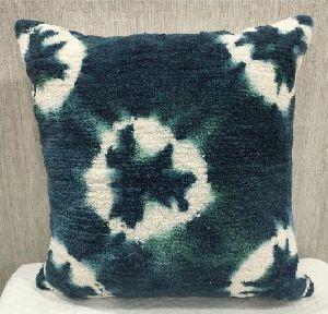 Cotton Casement Blue Cushion Cover