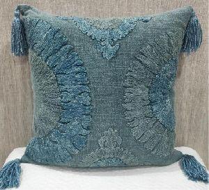 Cotton Slub (H) Blue Cushion Cover