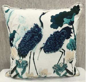 Cotton Slub (M) Blue Cushion Cover
