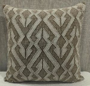 Cotton Slub (S) Brown Cushion Cover