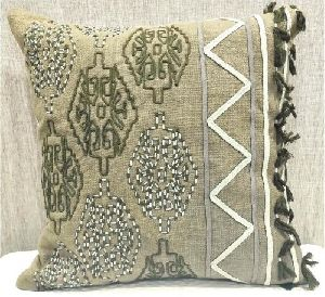 Cotton Slub (S) Green Cushion Cover