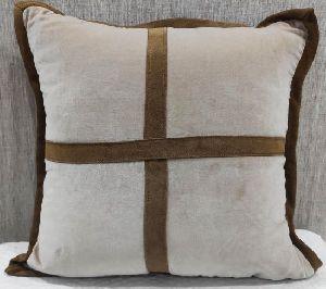 Cotton Velvet Brown Cushion Cover