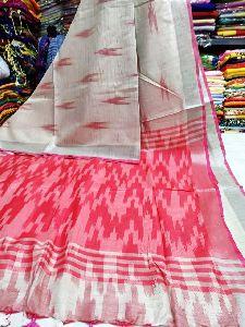 Cotton Slub Ikkat Sarees