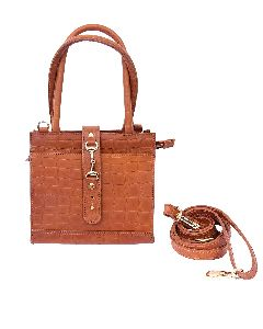 Tan Leather Detachable Sling Bag
