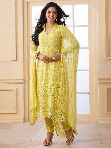 Chiffon Embroidered Suits