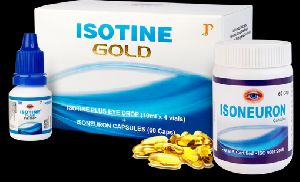 Isotine Gold Eye Drops & Capsules