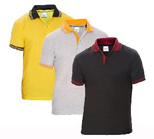 Mens Plain Polo T Shirts
