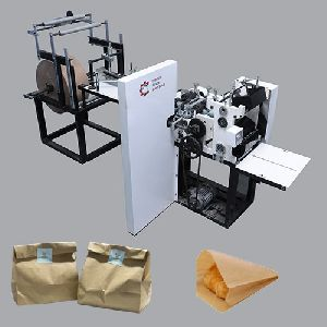 Grocery paper cover making machine