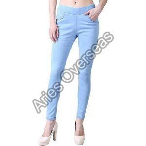 Plain Blue Jeggings