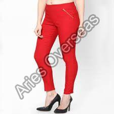 Plain Red Jeggings