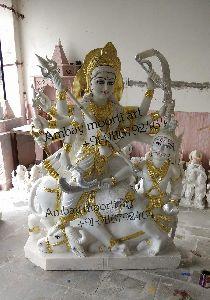 Marble Mahishasura Statue