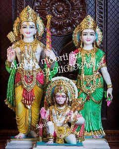 Marble Ram Sita Hanuman Statue